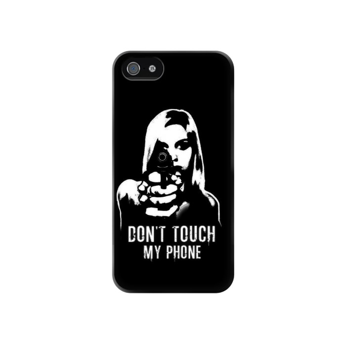 Printed Girl Do Not Touch My Phone Iphone 4 Case