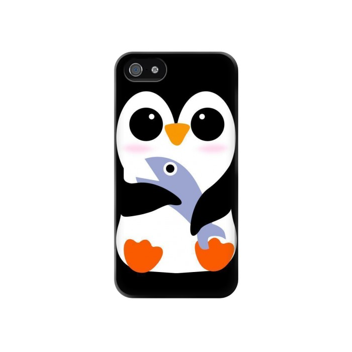 Printed Cute Baby Penguin Iphone 4 Case