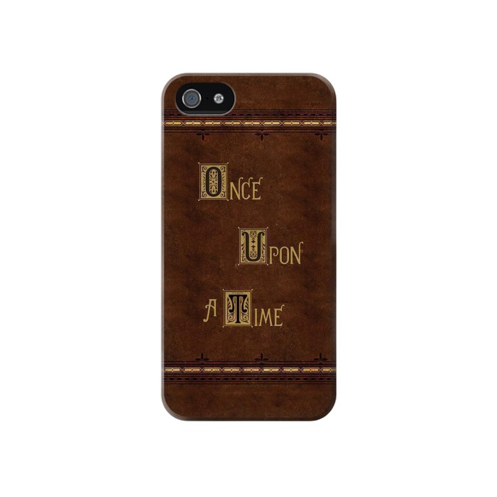 Printed Once Upon A Time Book Iphone 4 Case