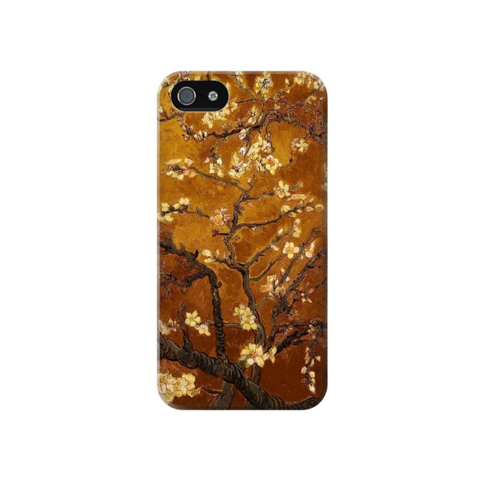 Printed Yellow Blossoming Almond Tree Van Gogh Iphone 4 Case