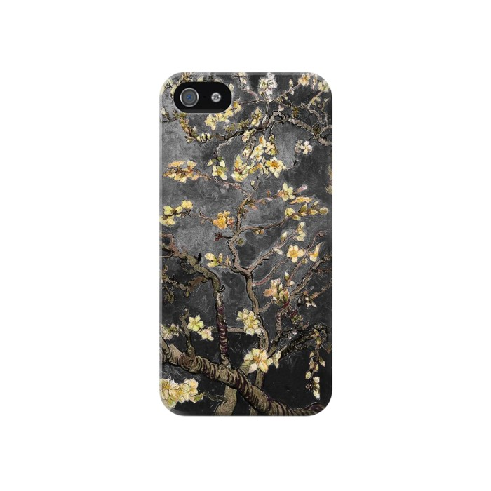 Printed Black Blossoming Almond Tree Van Gogh Iphone 4 Case