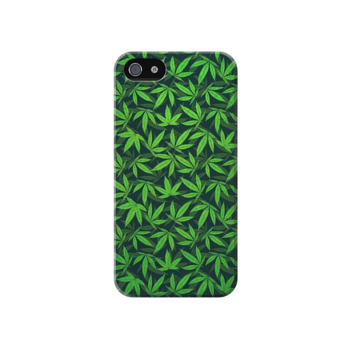 Printed Marijuana Pattern Iphone 4 Case