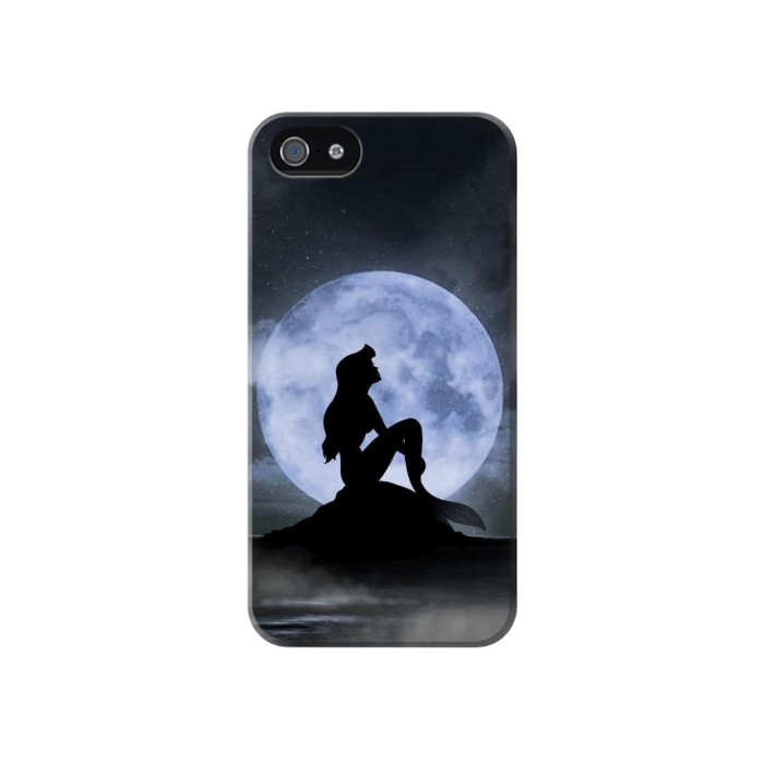 Printed Mermaid Moon Night Iphone 4 Case