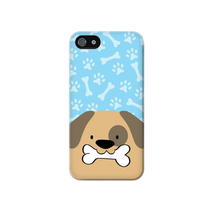 Printed Cute Dog Cartoon Iphone 4 Case