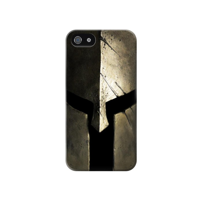 Printed Spartan Helmet Iphone 4 Case