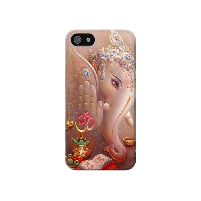 Printed God Ganesha Lord Of Success Iphone 4 Case