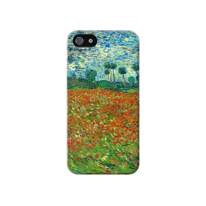 Printed Field Of Poppies Vincent Van Gogh Iphone 4 Case