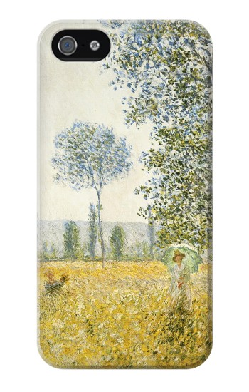 Printed Claude Monet Fields In Spring Iphone 4 Case
