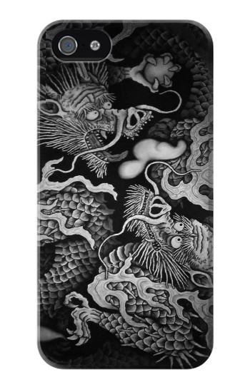 Printed Japan Painting Twin Dragons Iphone 4 Case