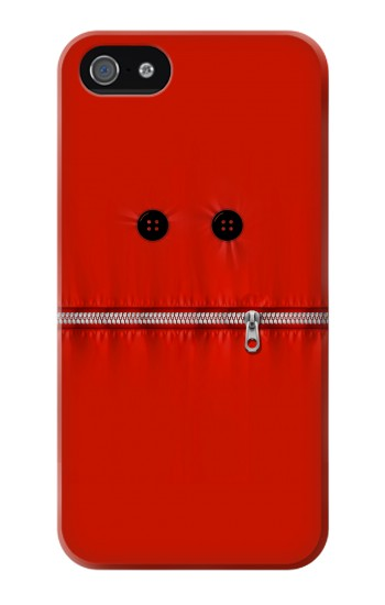 Printed Red Zipped Mount Funny Graphic Printed Iphone 4 Case