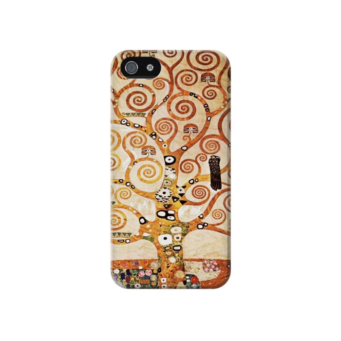 Printed The Tree of Life Gustav Klimt Iphone 4 Case