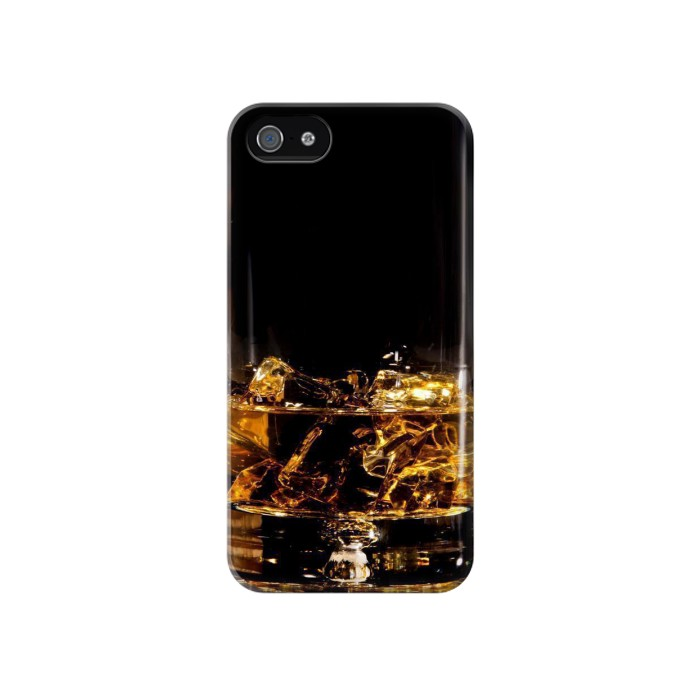 Printed Ice Whiskey Glass Iphone 4 Case