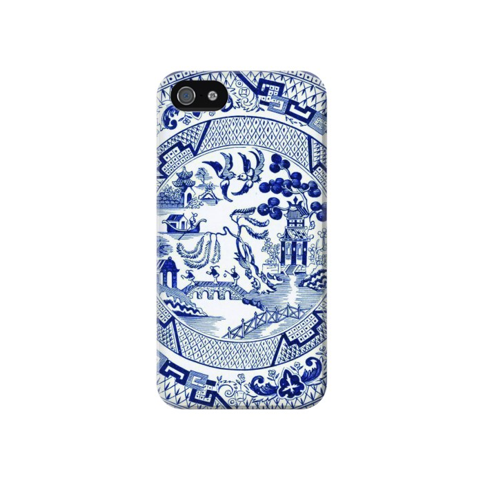 Printed Willow Pattern Illustration Iphone 4 Case