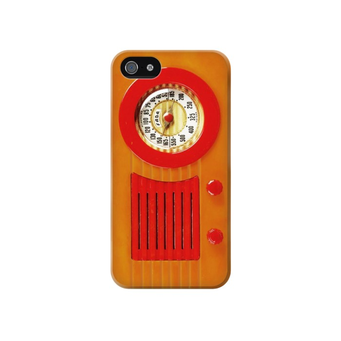 Printed Vintage Bakelite Radio Orange Iphone 4 Case