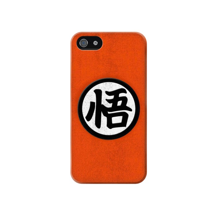 Printed Dragon Ball Z Goku Japan Kanji Symbol Anime Costume Iphone 4 Case