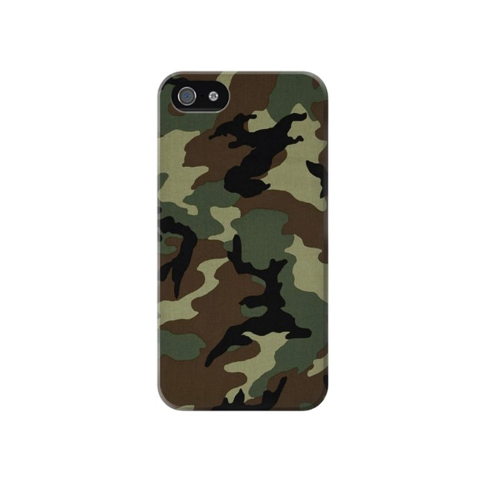 Printed Army Green Woodland Camo Iphone 4 Case