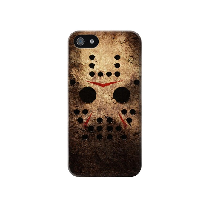 Printed Jason Hockey Mask Iphone 4 Case