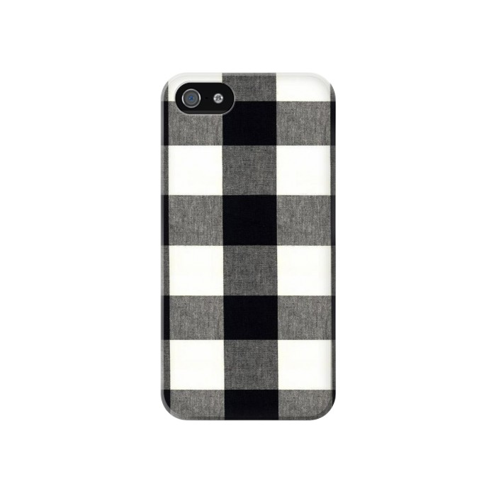 Printed Black and White Buffalo Check Pattern Iphone 4 Case