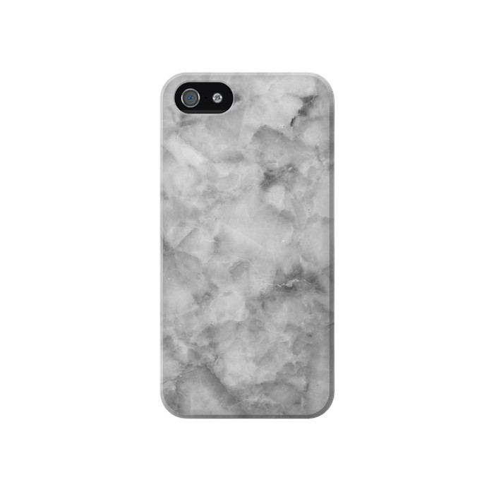 Printed Gray Marble Texture Iphone 4 Case