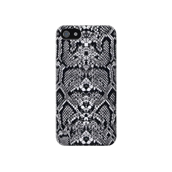 Printed White Rattle Snake Skin Iphone 4 Case