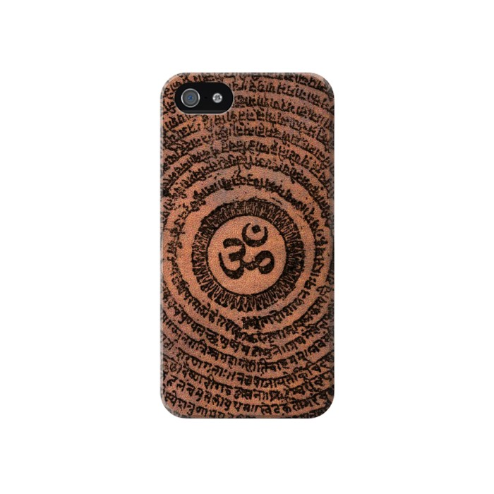 Printed Sak Yant Ohm Symbol Tattoo Iphone 4 Case
