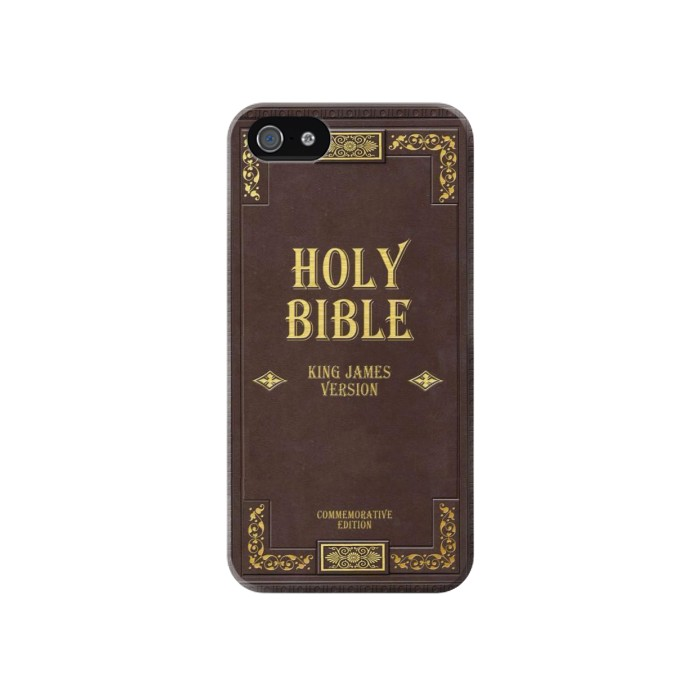 Printed Holy Bible Cover King James Version Iphone 4 Case