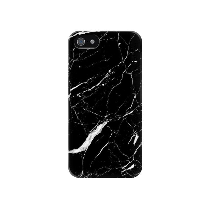 Printed Black Marble Graphic Printed Iphone 4 Case
