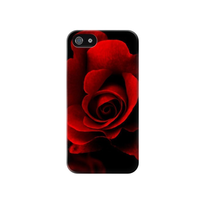 Printed Red Rose Iphone 4 Case