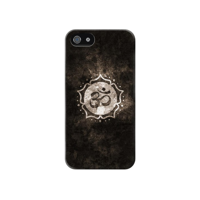 Printed Yoga Namaste Om Symbol Iphone 4 Case