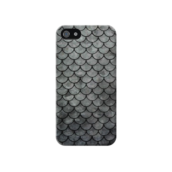 Printed Silver Fish Scale Iphone 4 Case