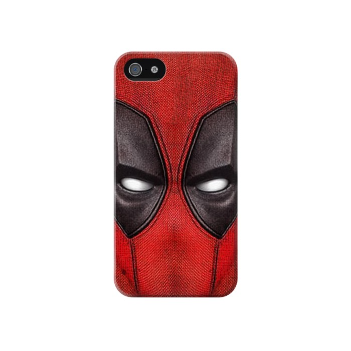 Printed Deadpool Mask Iphone 4 Case