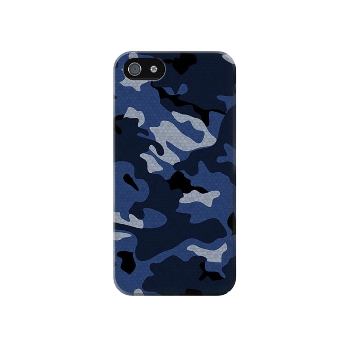 Printed Navy Blue Camouflage Iphone 4 Case