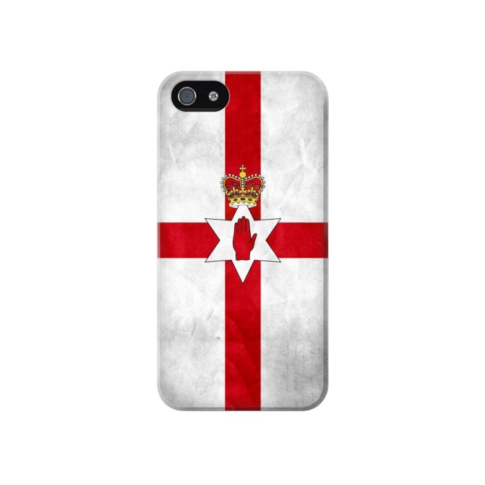 Printed Northern Ireland Flag Iphone 4 Case