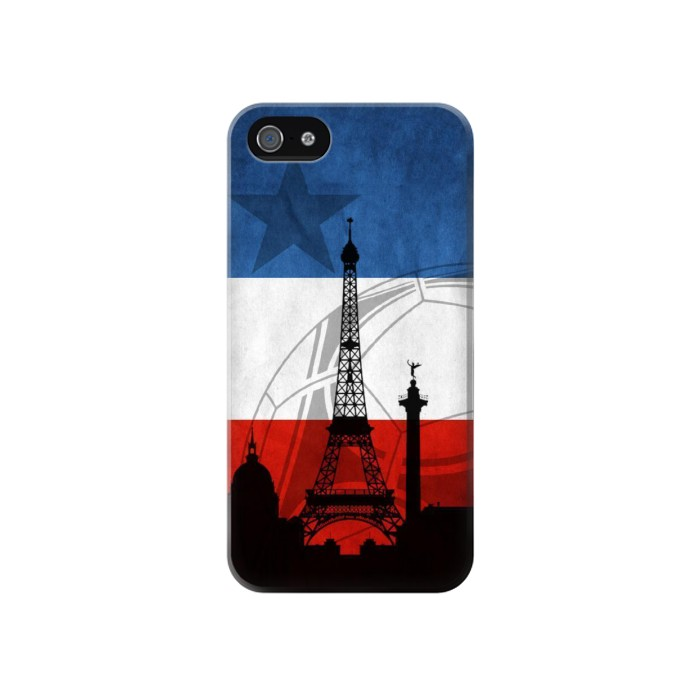 Printed France Football Flag Iphone 4 Case