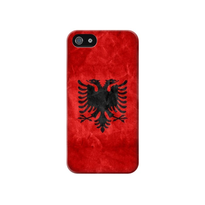 Printed Albania Red Flag Iphone 4 Case