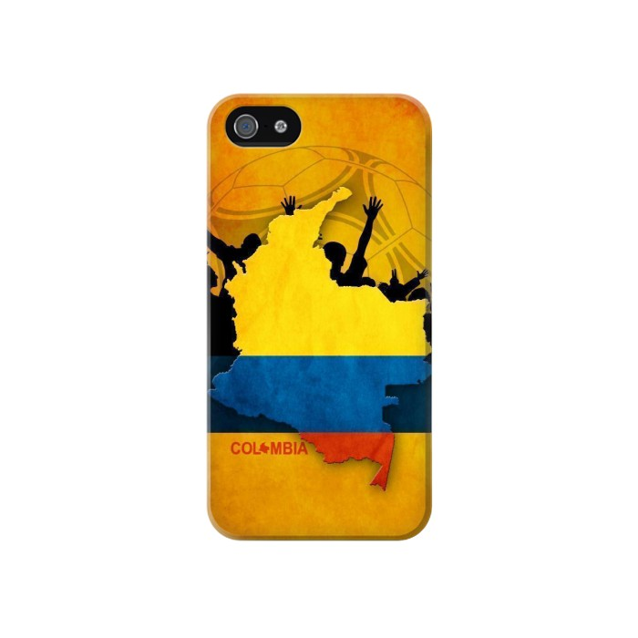 Printed Colombia Football Flag Iphone 4 Case