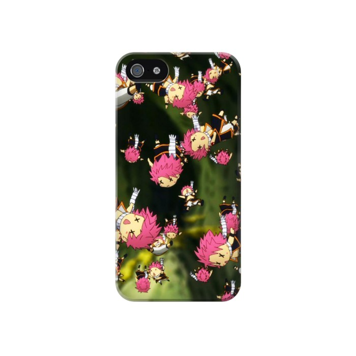 Printed Fairy Tail Little Natsu Fall Iphone 4 Case