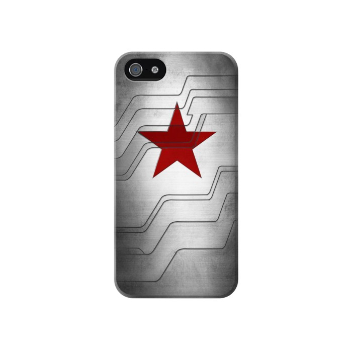 Printed Winter Soldier Bucky Arm Texture Iphone 4 Case