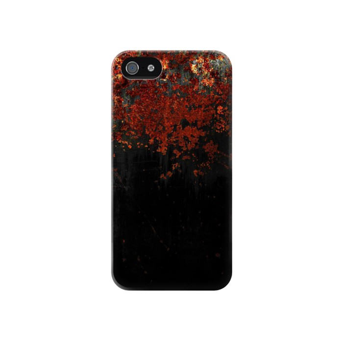 Printed Rusted Metal Texture Iphone 4 Case