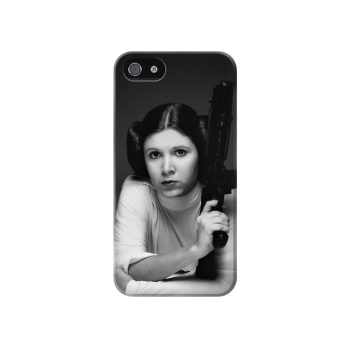 Printed Princess Leia Carrie Fisher Iphone 4 Case