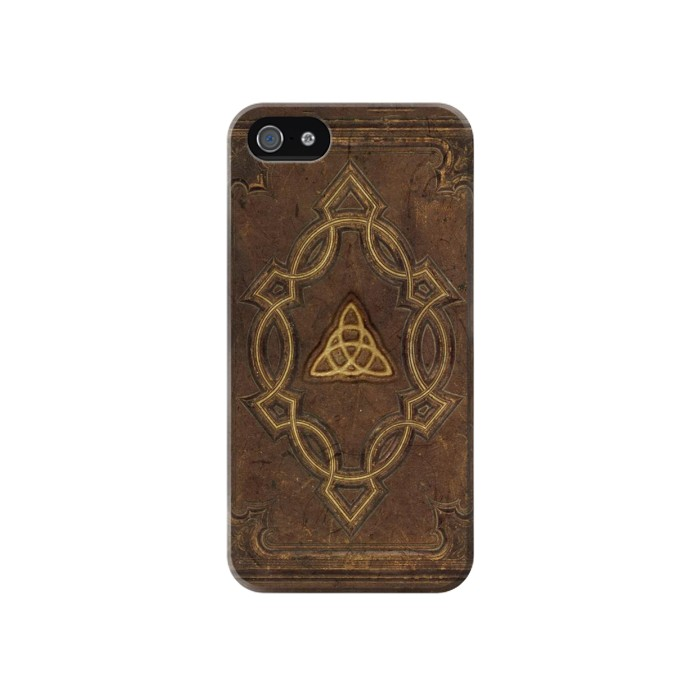 Printed Spell Book Cover Iphone 4 Case