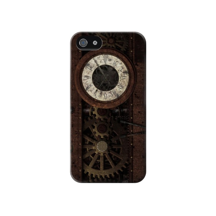 Printed Steampunk Clock Gears Iphone 4 Case