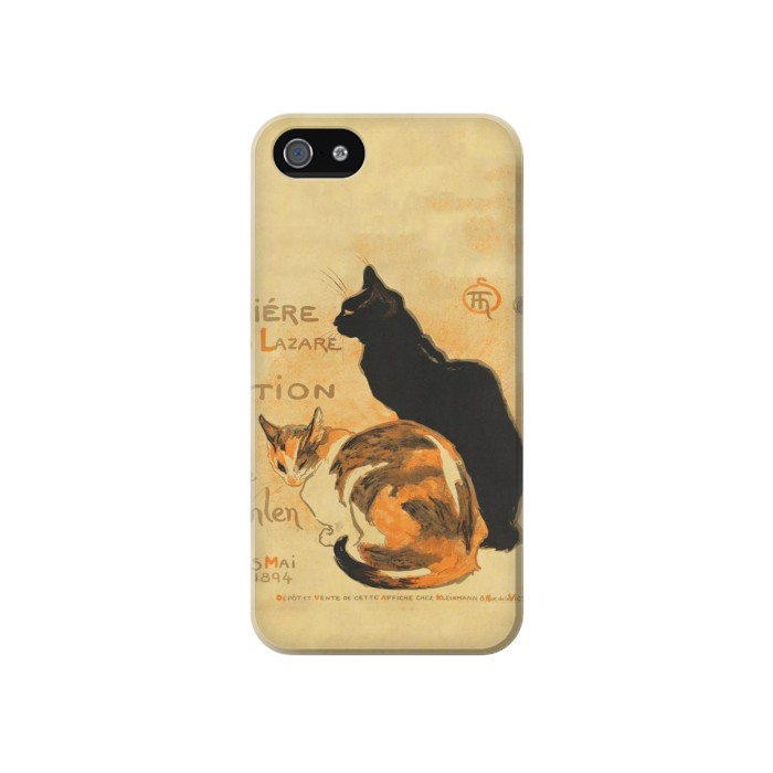 Printed Vintage Cat Poster Iphone 4 Case