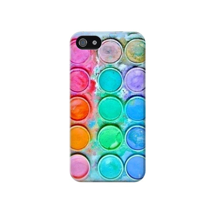 Printed Watercolor Mixing Iphone 4 Case