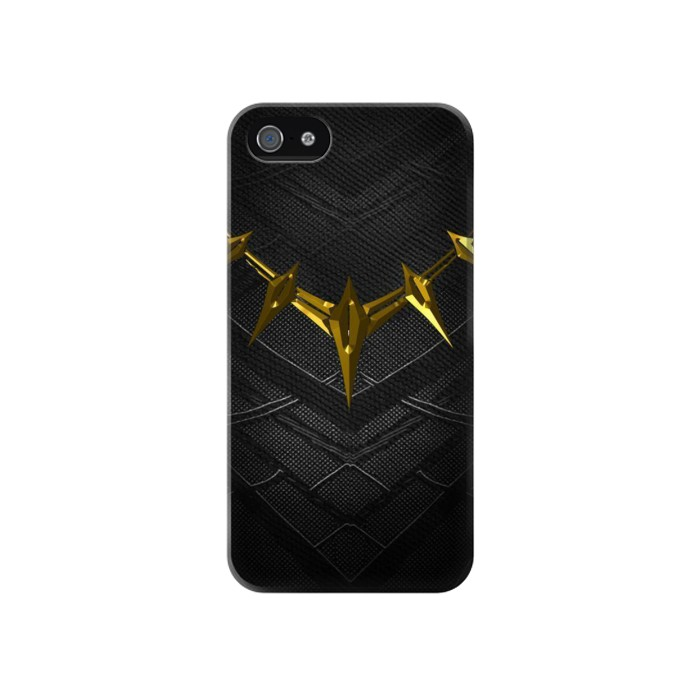Printed Black Panther Inspired Costume Gold Necklace Iphone 4 Case