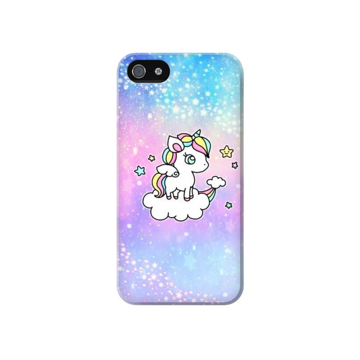Printed Cute Unicorn Cartoon Iphone 4 Case
