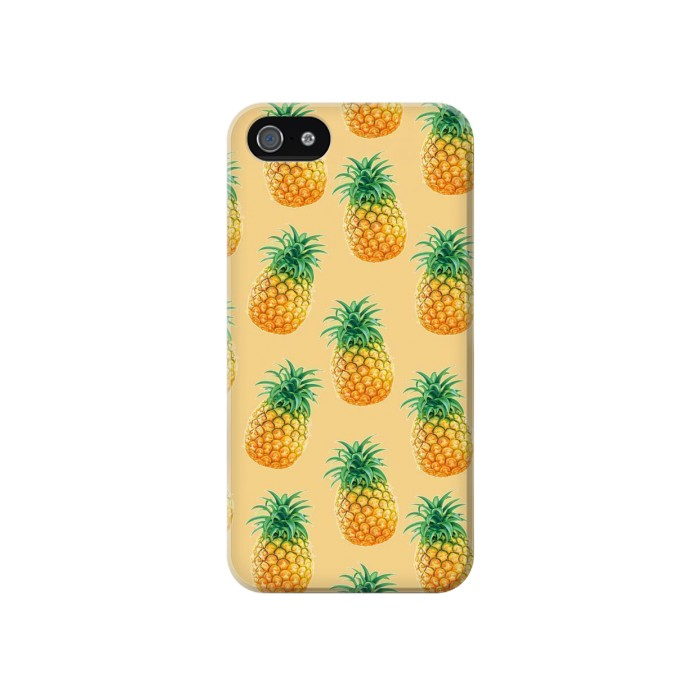 Printed Pineapple Pattern Iphone 4 Case