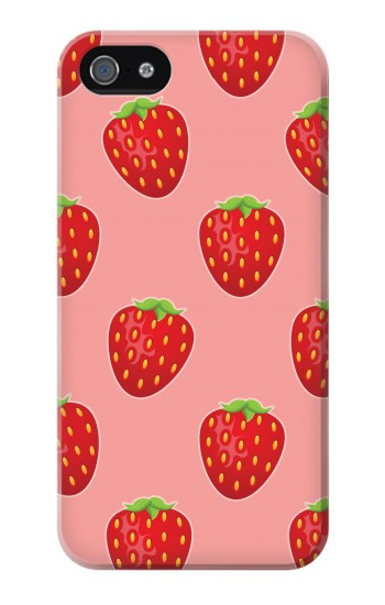 Printed Strawberry Fruit Pattern Iphone 4 Case