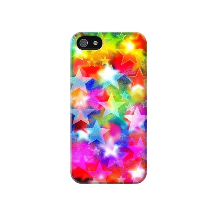Printed Colourful Disco Star Iphone 4 Case