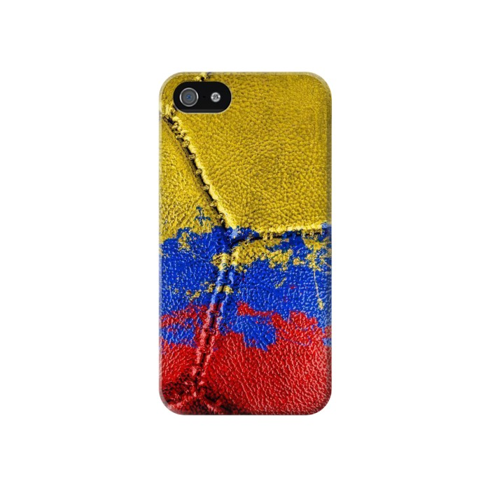Printed Colombia Flag Vintage Football 2018 Iphone 4 Case
